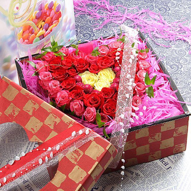 매력적인 꽃상자-중급 3시간배송 전국 꽃배달 고백 결혼 기념일 감사선물