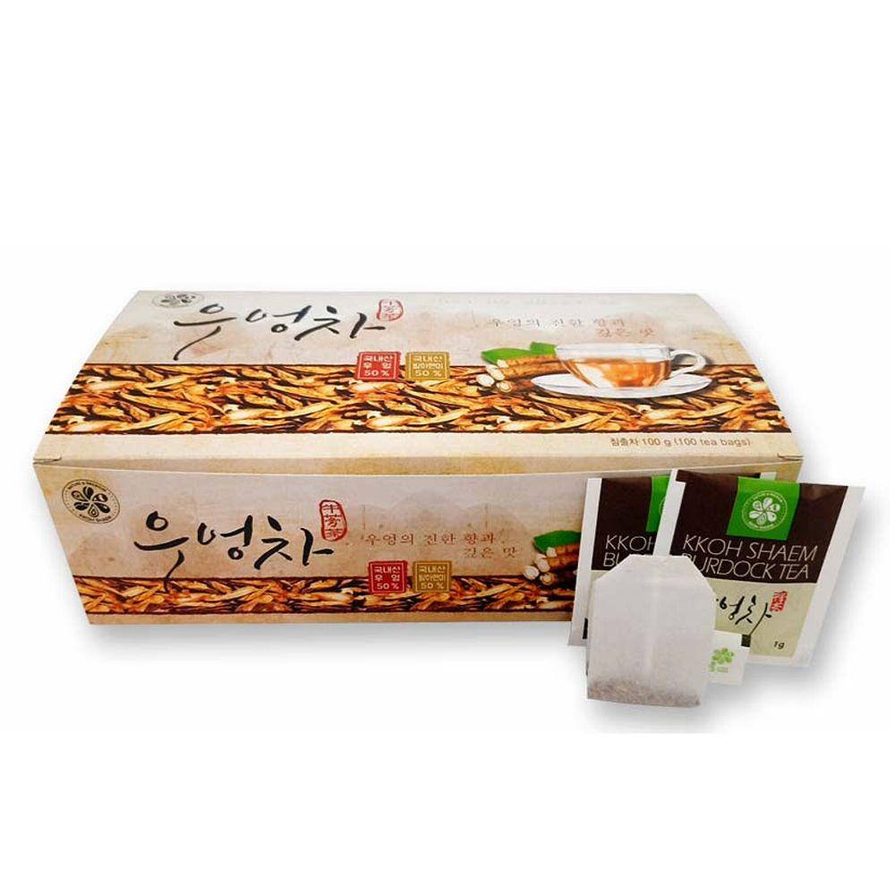 꽃샘 우엉차 티백 100T/ 우엉우린물/ 사각티백