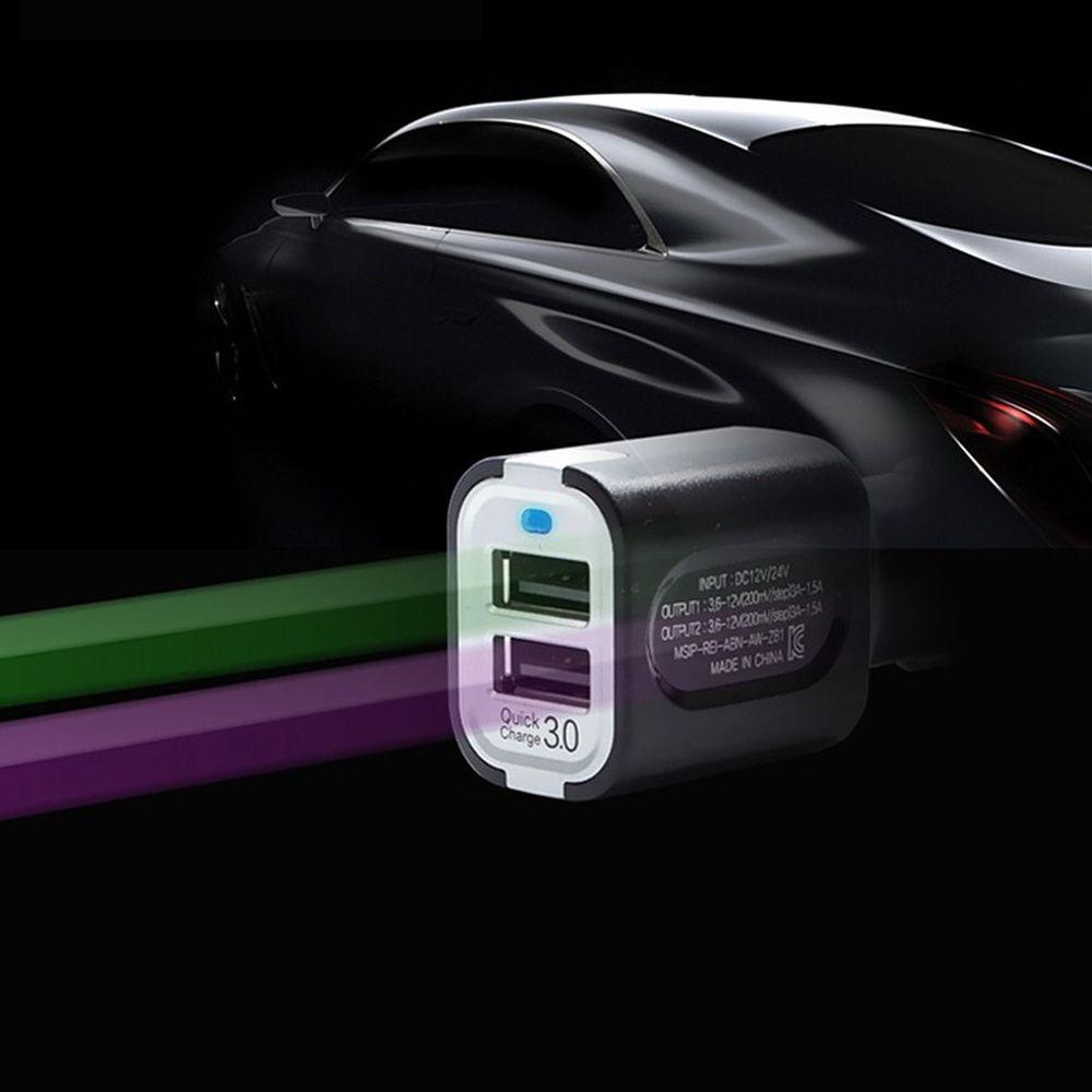 듀얼포트 퀵차지 3.0A 차량용 고급 고속충전기