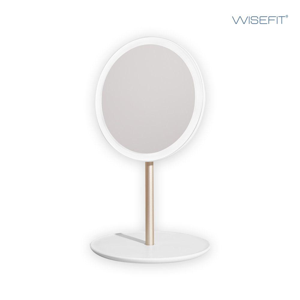 와이즈핏 LED거울 탁상거울 메이크업 무드등 충전식