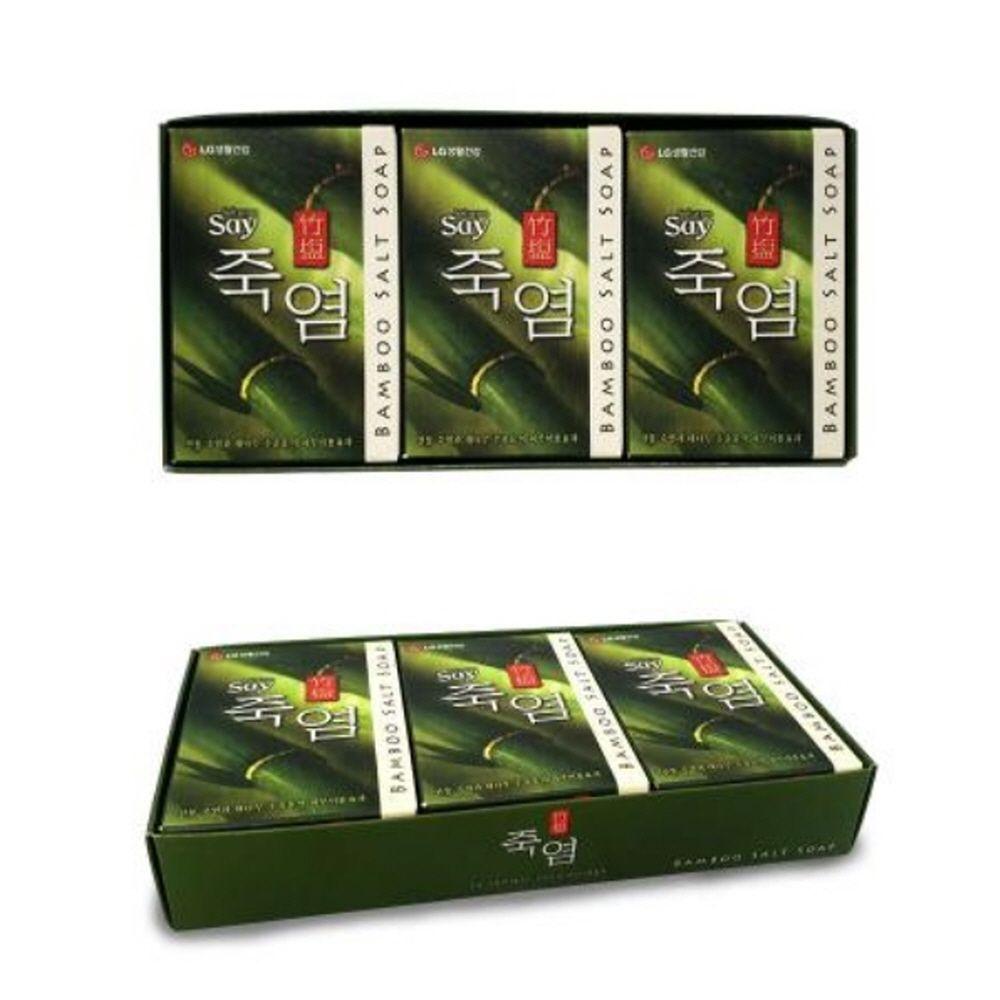 엘지생활건강 죽염 대나무 미용 클렌징 세안 비누