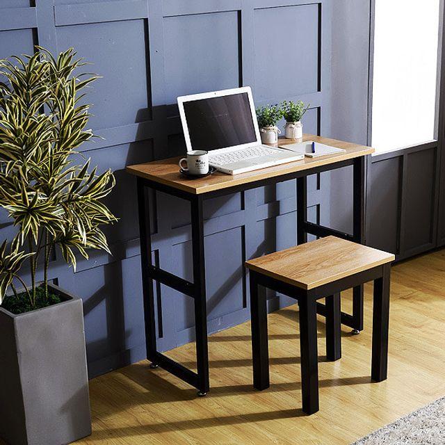슬림테이블 1인용세트 컴퓨터용 테이블 카페 식탁의자