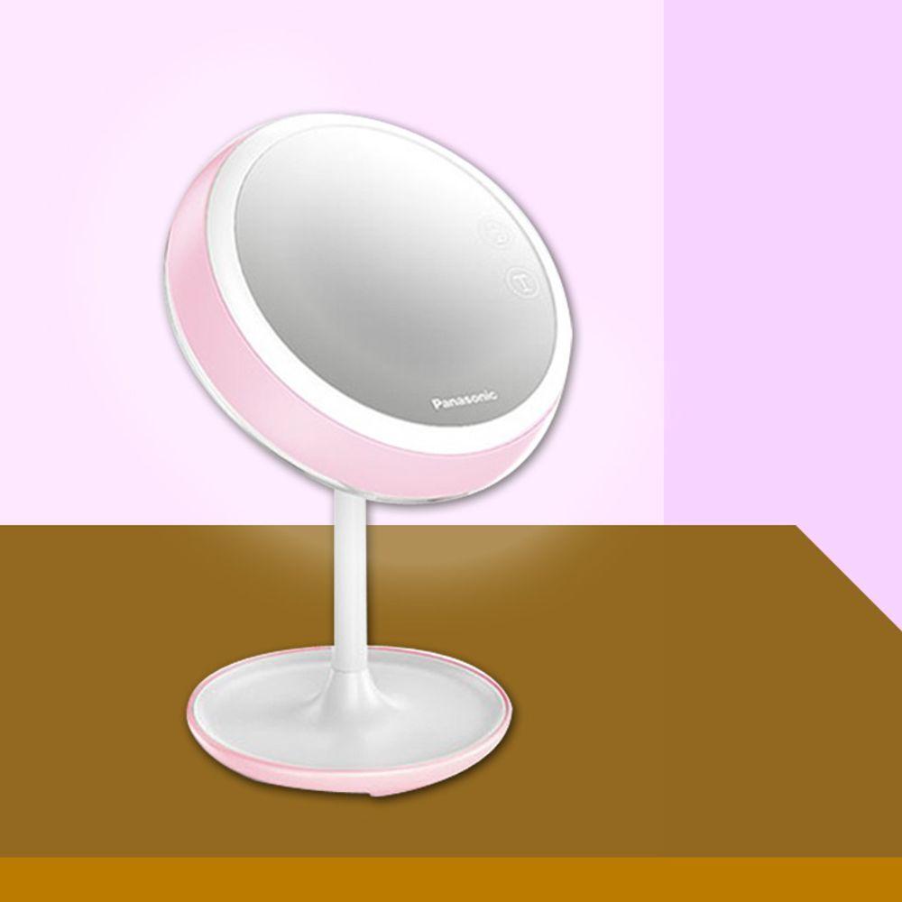 파나소닉 메이크업 LED스탠드조명 충전식 핑크색