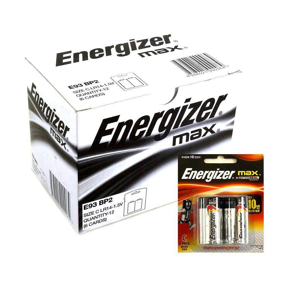 에너자이저 MAX 배터리 C형 LR14 1박스 12개입