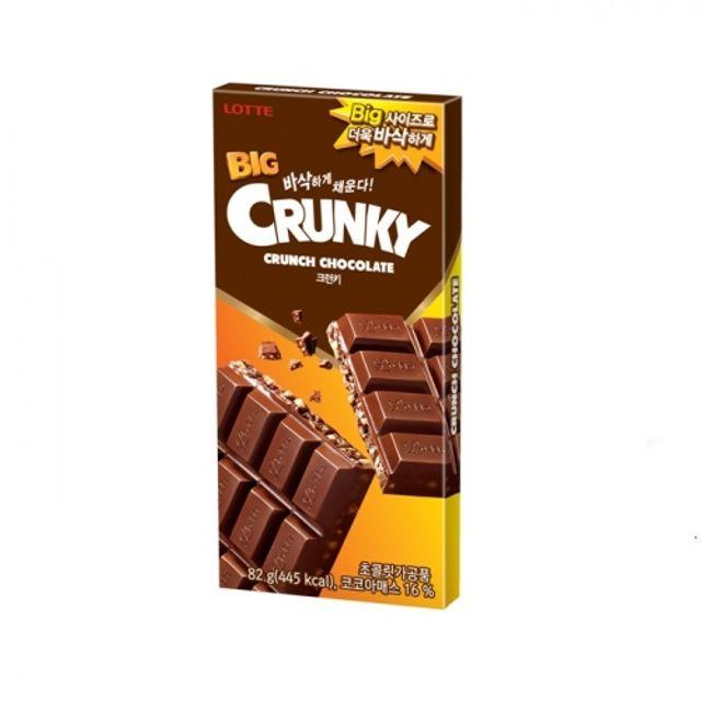 빅크런키 82g 32개 바삭 대형 초콜릿 과자 비상식량