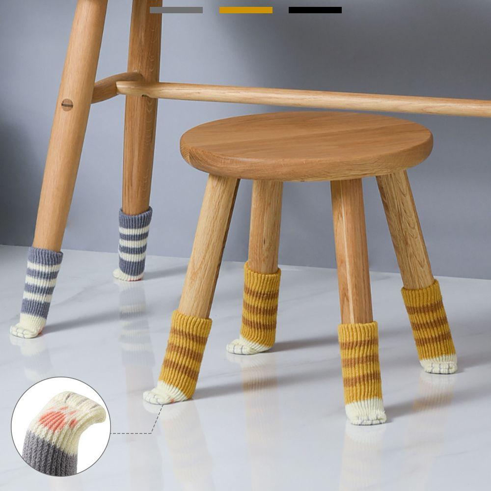 층간소음 안녕 고양이발 니트 테이블 의자양말 바닥