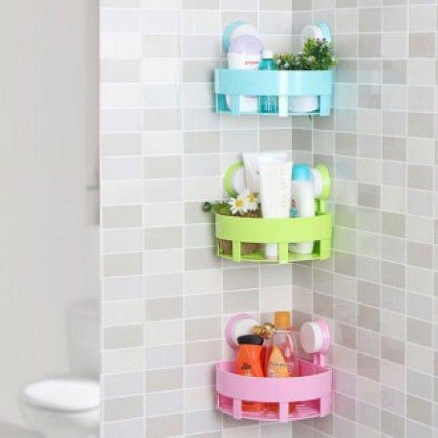 W0D9AA8 생활 건강>욕실용품>욕실잡화>샤워용품 코너 원형 선반 욕실 다용도 흡착식