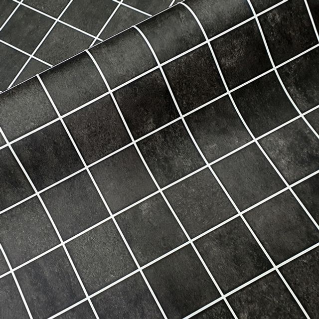 타일시트지 스톤 블랙 WBHEDT410-50 헤라증정