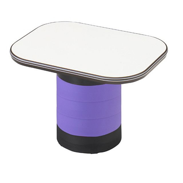 좌식 수납 테이블 보라 탁자 거실 다용도 작업 책상
