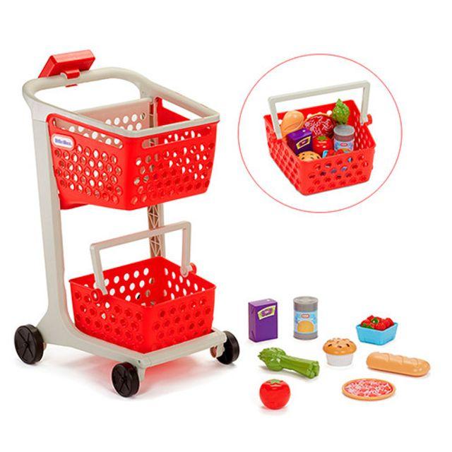 유아 역할놀이 쇼핑놀이 소꿉놀이 2단 쇼핑카트