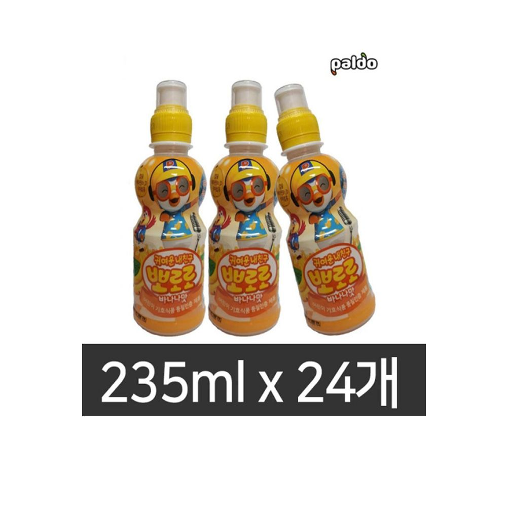뽀로로 바나나맛 235mlX24개 어린이음료 과즙음료