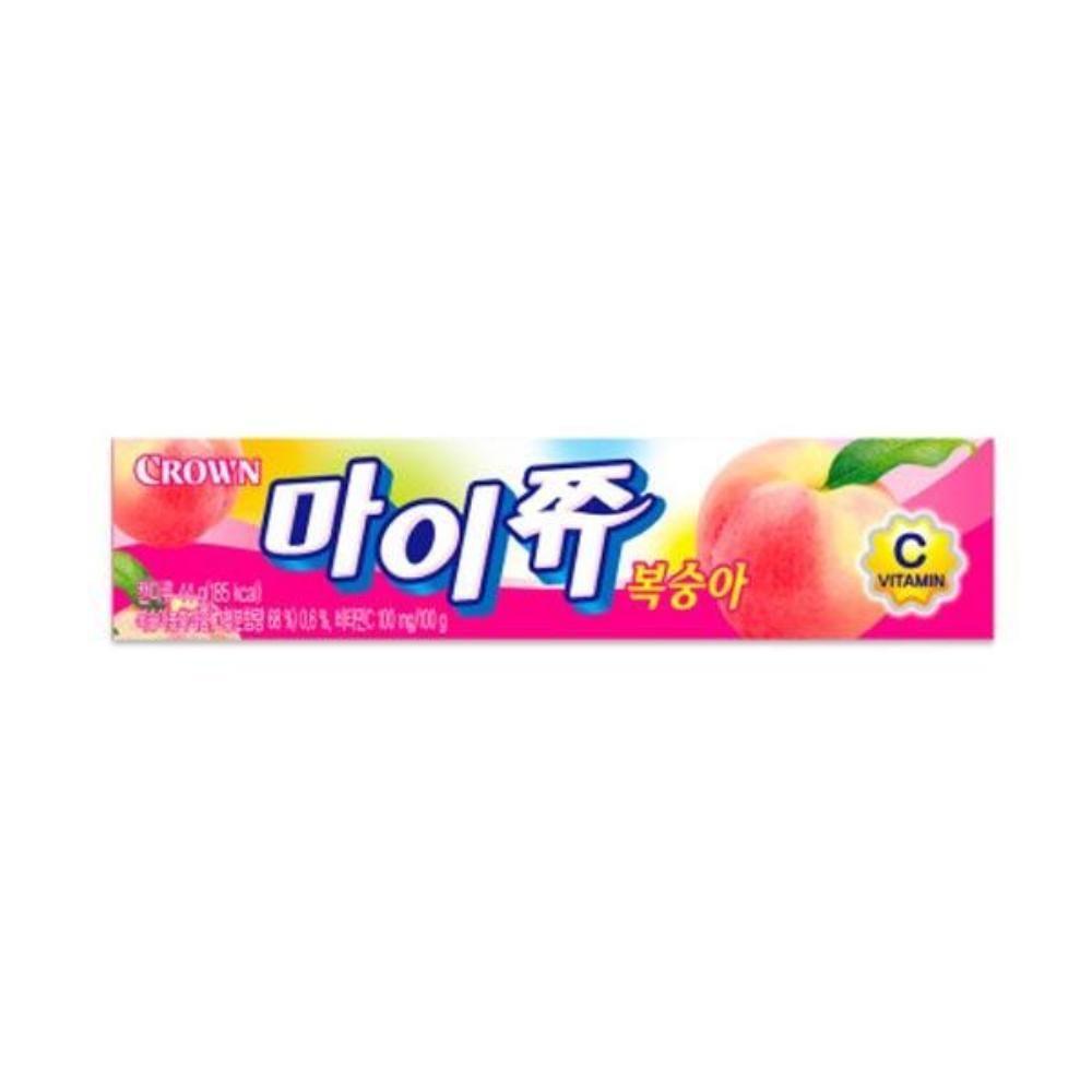 크라운 마이쮸 복숭아 스틱 44g 어린이간식 츄잉캔디