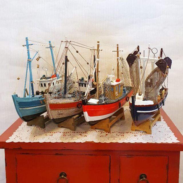 바닷가 돛단배 소품 장식품 인테리어 선물 배모형