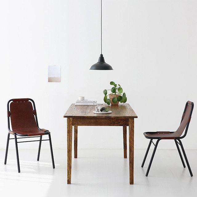 마켓비 ENTIC 테이블 PECRE 의자 라이트그레이 세트