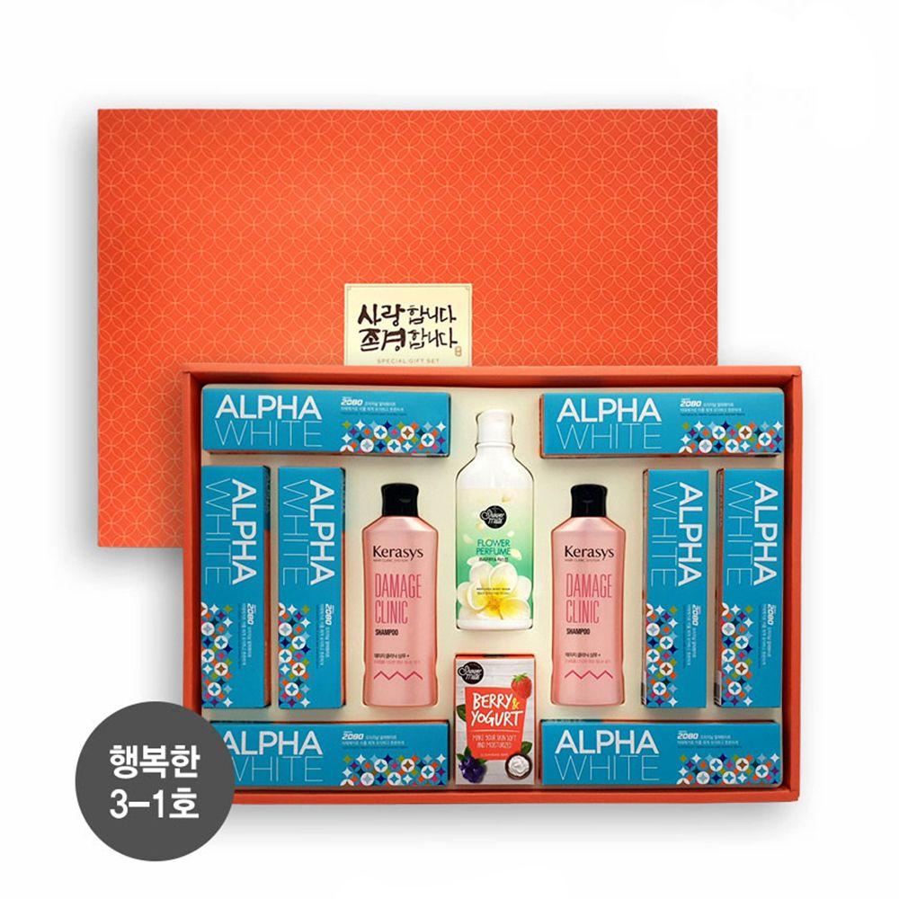 알뜰 구성 설 추석 생활용품 샴푸 치약 선물 세트