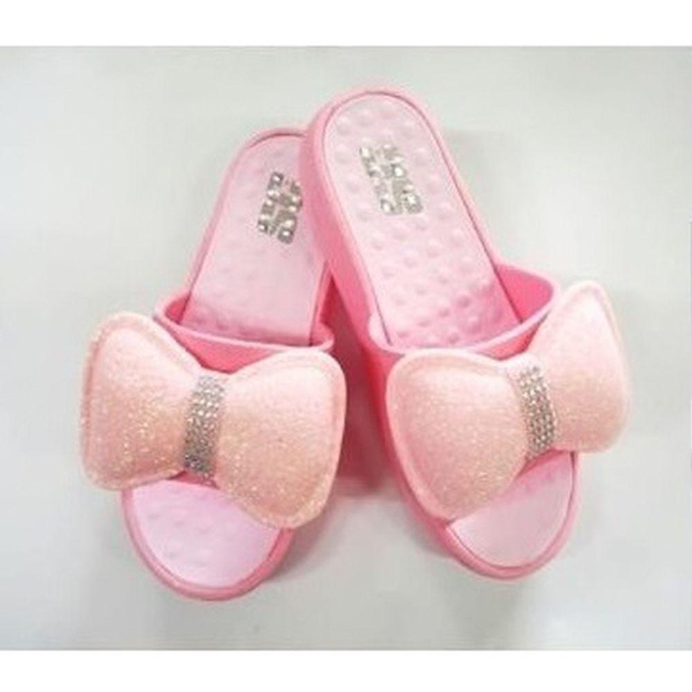 리본 장식 슬리퍼 웨지 키높이 사무실 예쁜 신발 핑크
