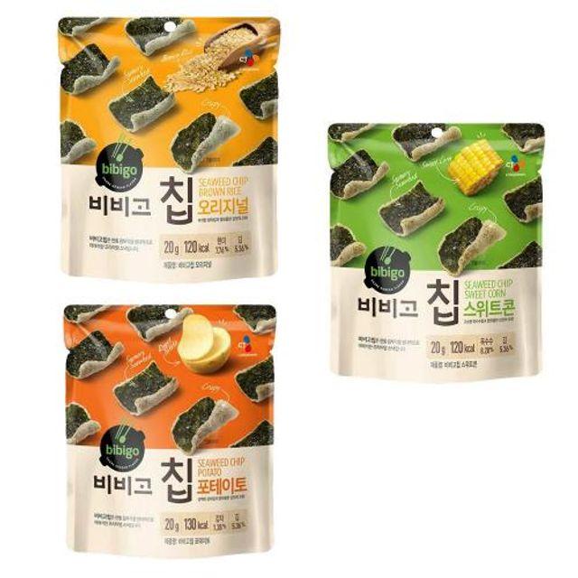 CJ 비비고칩 김과 스낵의 프리미엄 간식 포테이토칩