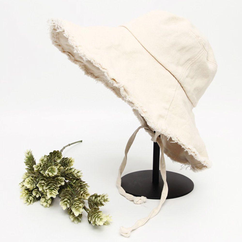 올풀림 턱끈면 와이드 벙거지 모자 캐주얼 빈티지패션