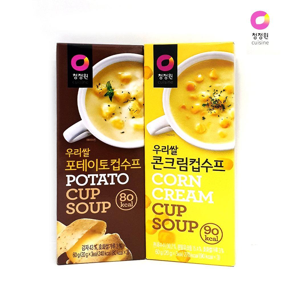 청정원 우리쌀 스프/ 포테이토 콘크림/ 간편 스틱수프