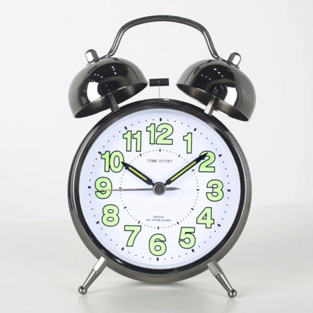 스틸 트윈벨 빅알람탁상시계(그린)