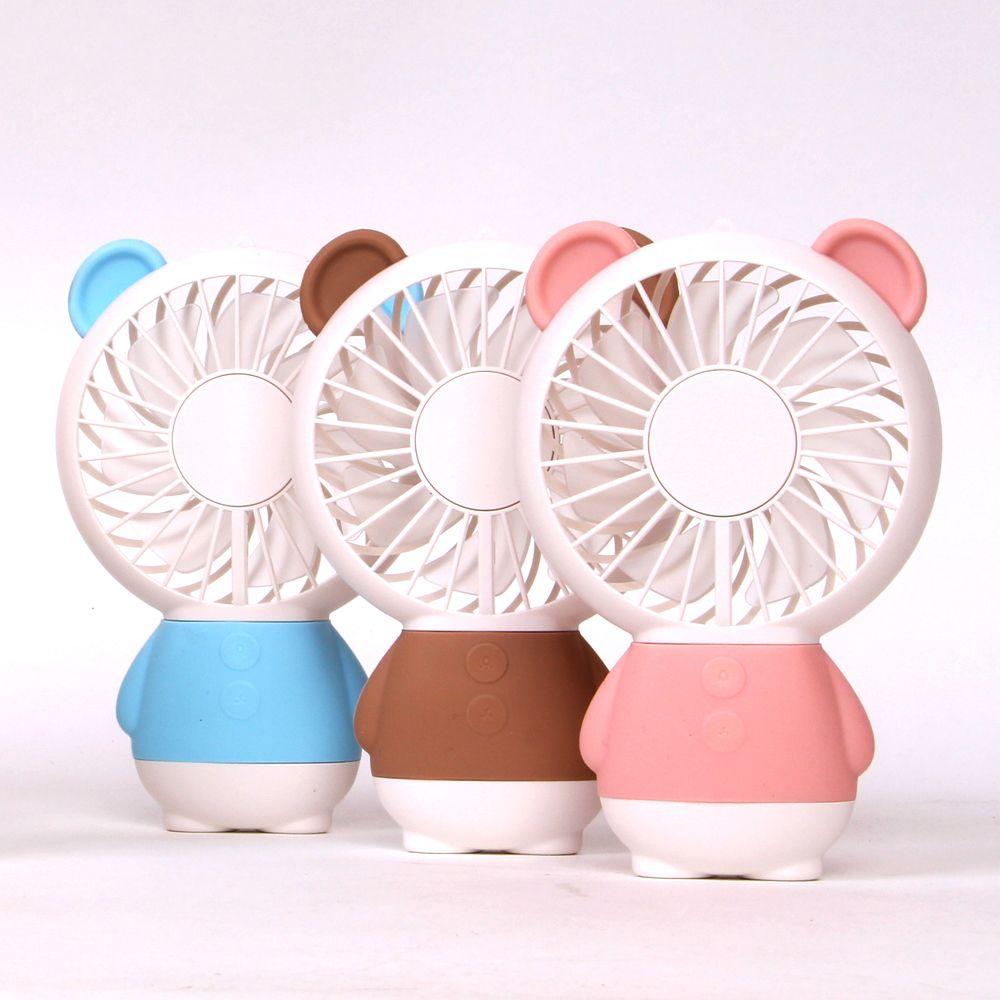 LED RAINBOW 핸디선풍기 곰 휴대용선풍기