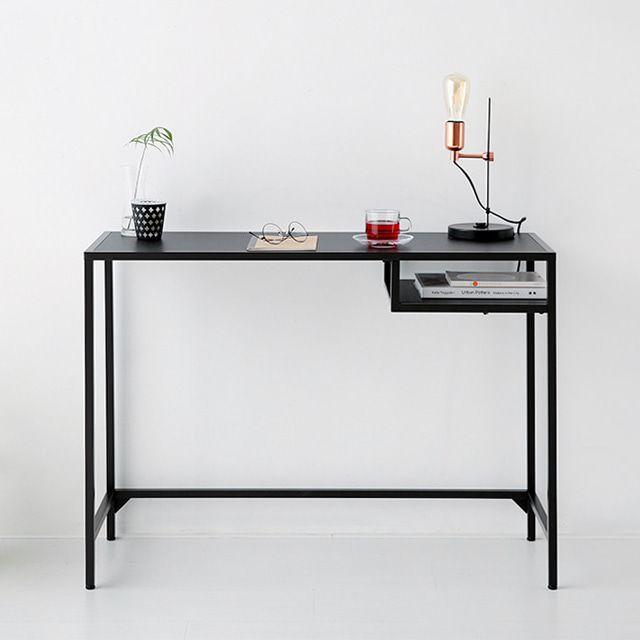 마켓비 TETOS 책상 철제책상 일자형책상 10036 블랙