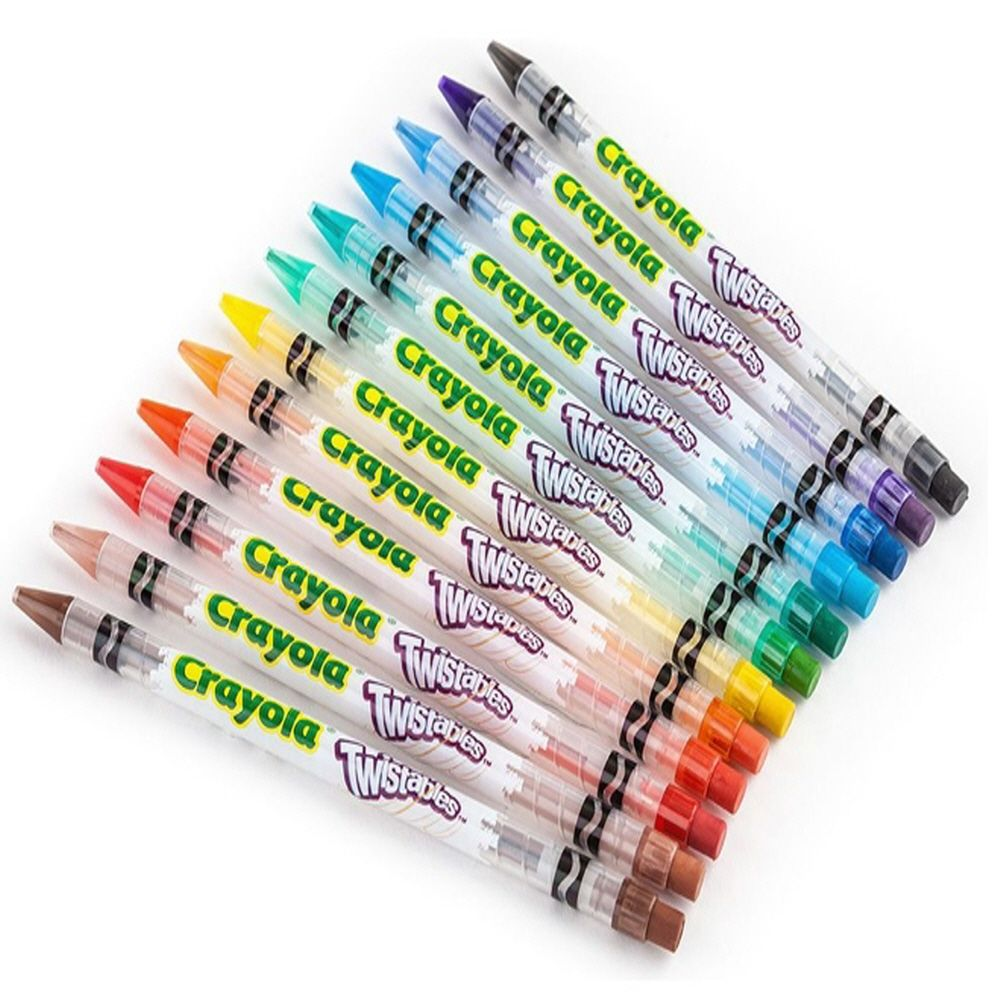 스케치북 색칠 그림 그리기 트위스트 색연필 12색