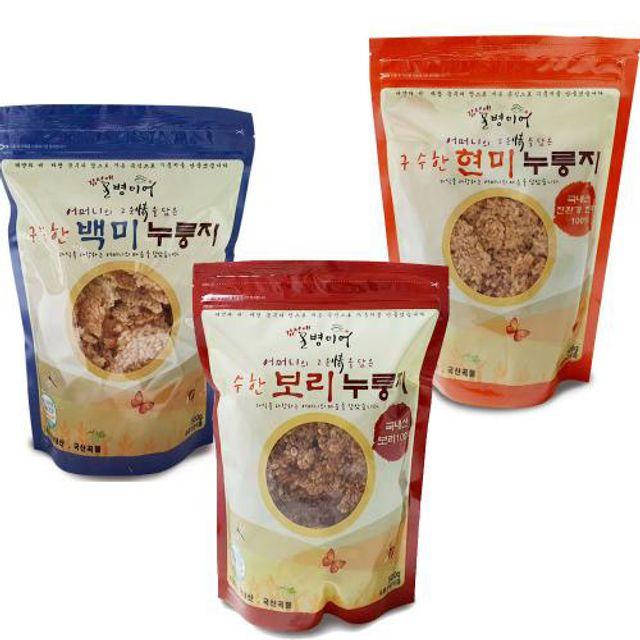 현미 보리 백미 누룽지 대용량 파우치팩 500g