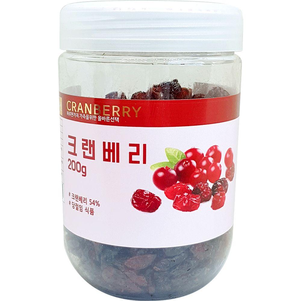크랜베리 200g 과일칩 아이 간식 말린 과일 건과류