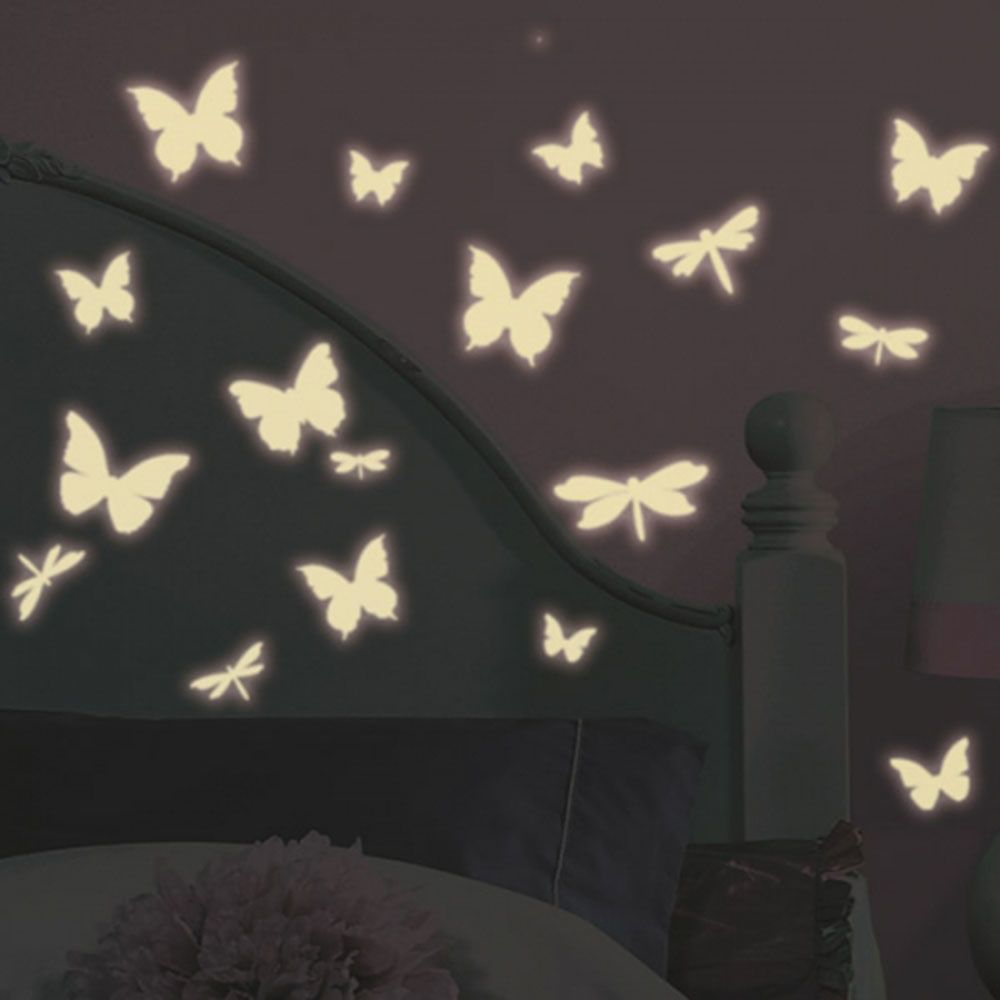 어린이집 아이방 DIY 데코 시트 빛을 내는 나비 공간