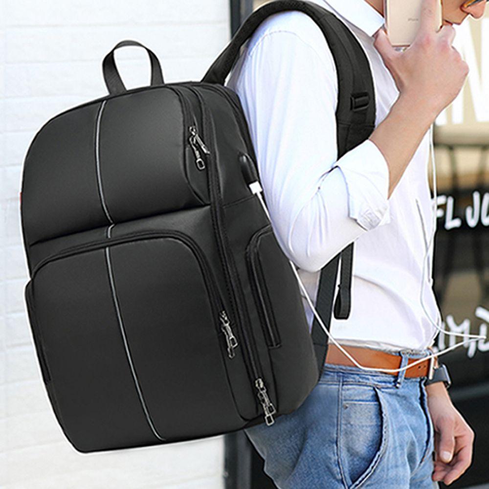 여행용 출퇴근용 학생 백팩 노트북 USB 방수 남성