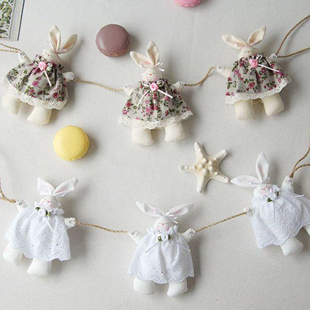 토끼 디자인 장식소품 가렌더 벽걸이 인테리어소품