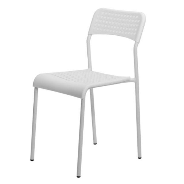 회의실 의자 강당의자 보급형 의자 통풍의자 흰색