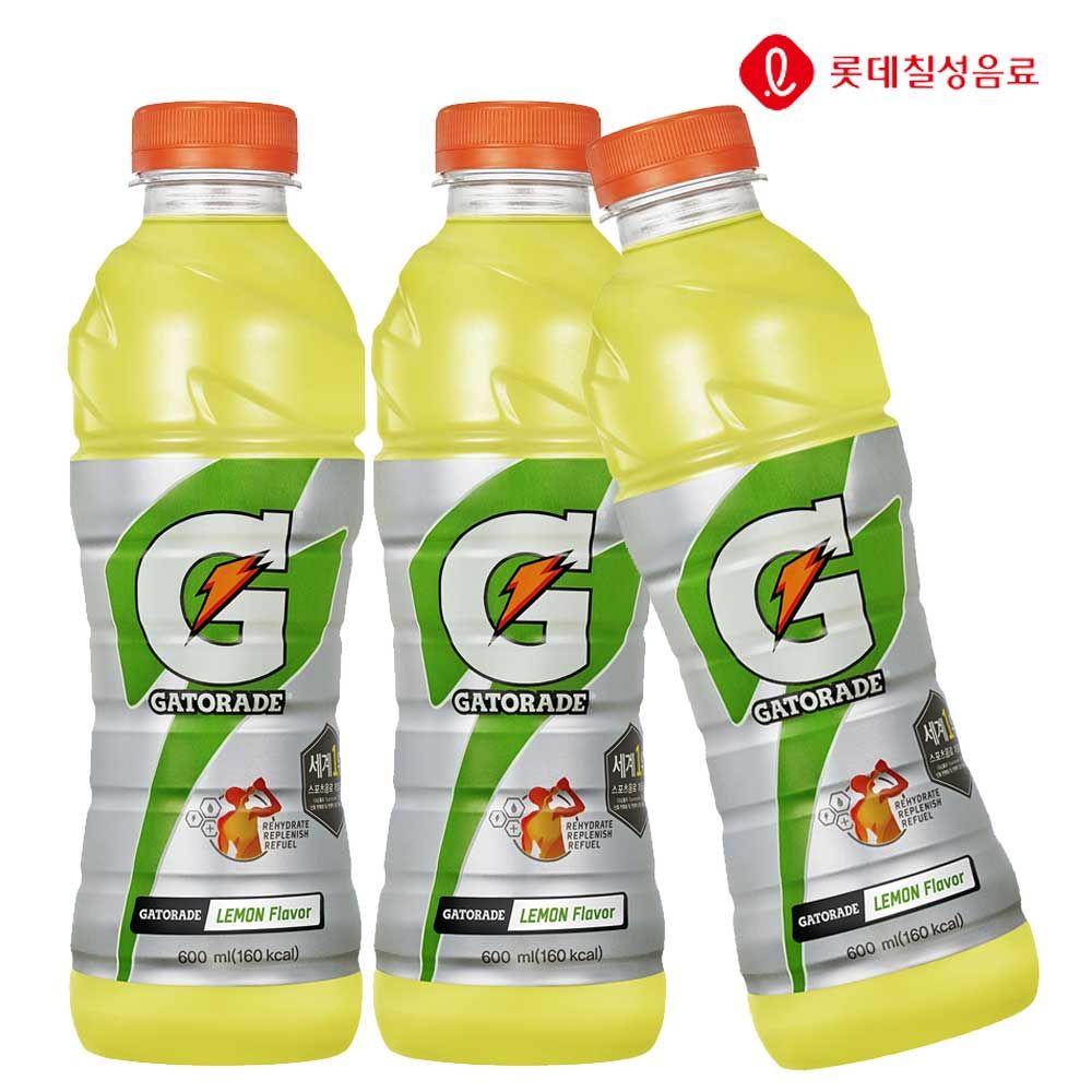 게토레이 레몬 600ml X 20개 이온음료/스포츠음료