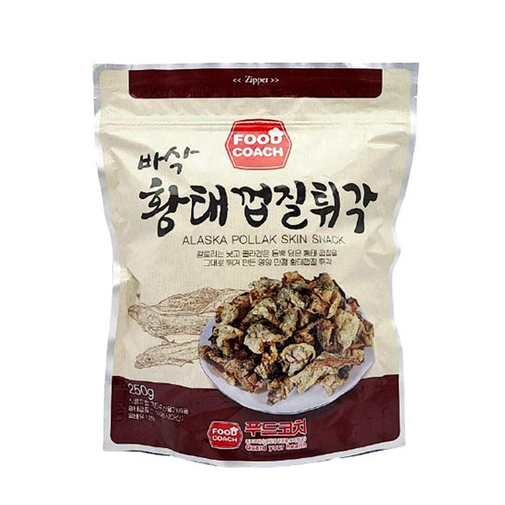 푸드코치 바삭 황태껍질튀각 250g/ 주전부리/간편간식
