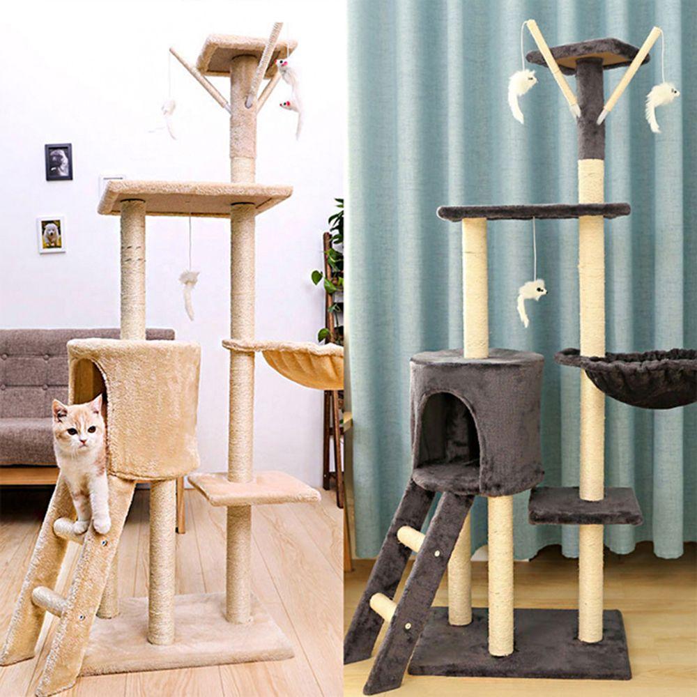 고양이 놀이터 스크래처 고양이집 고급 3층 캣타워