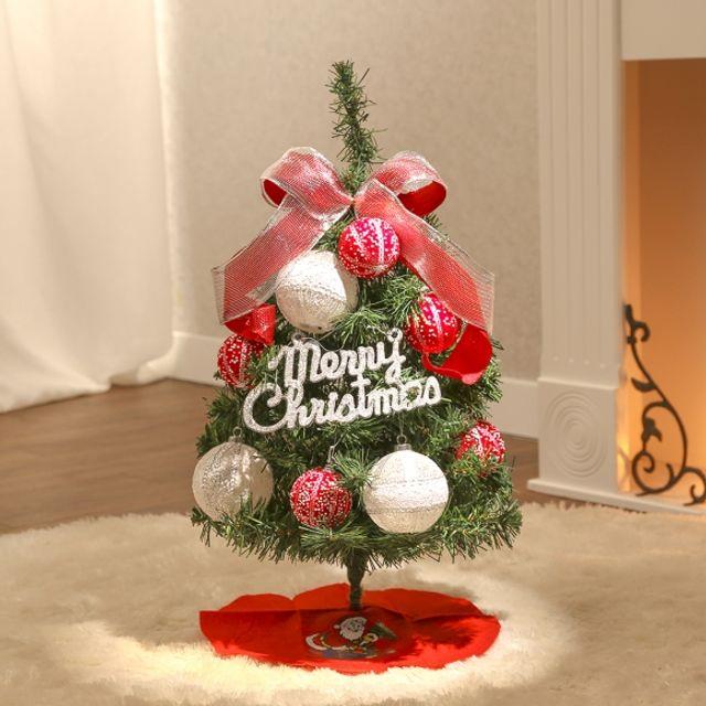 인테리어 60cm 레드앤 레이스 스카치트리 풀세트 크리스마스 트리 장식 성탄절 5407B4