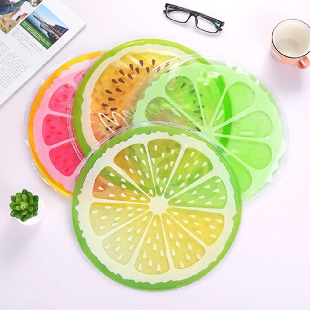 모아모아요 여름 과일모양 원형 젤매트 쿨배개
