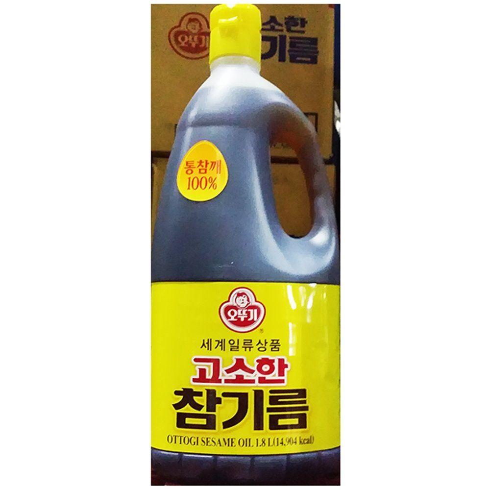 참기름 고소한 오뚜기 1.8L 업소용 맛기름 챔기름