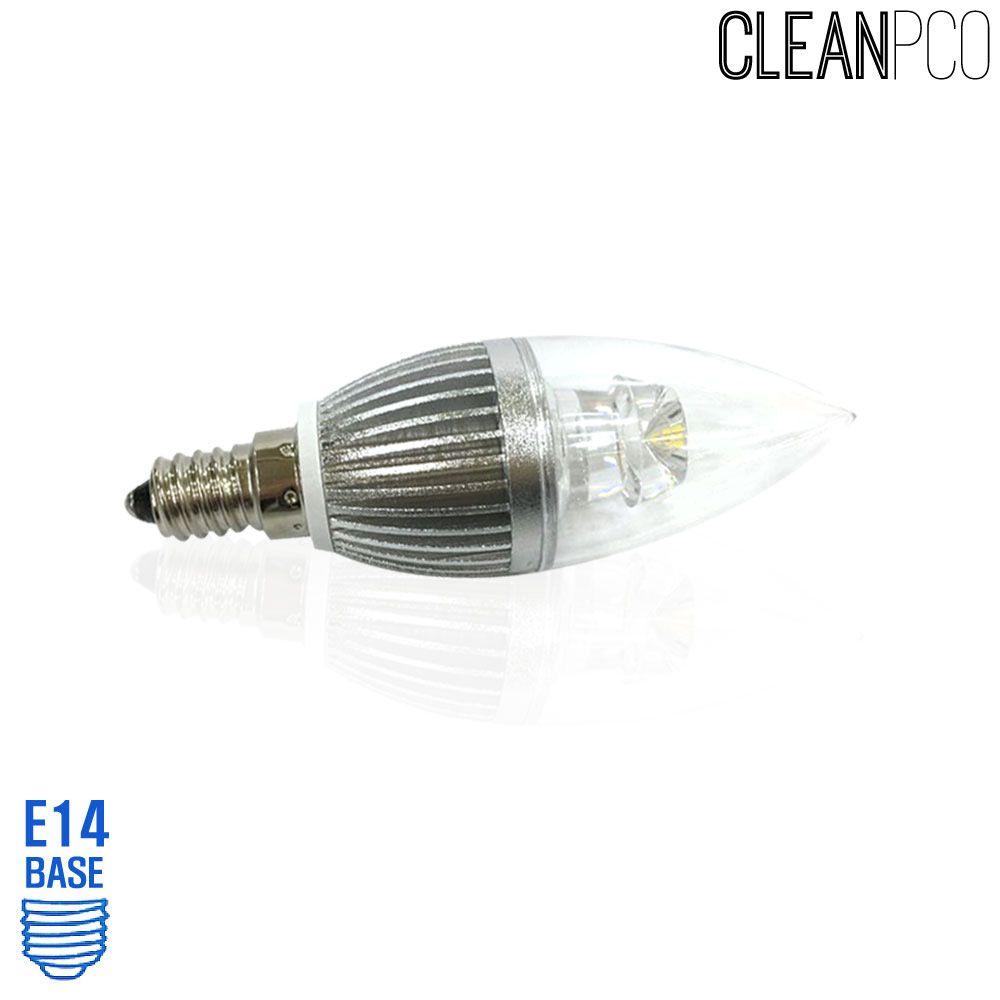 아텍스 LED 투명 촛대구램프 4W 주광색 촛