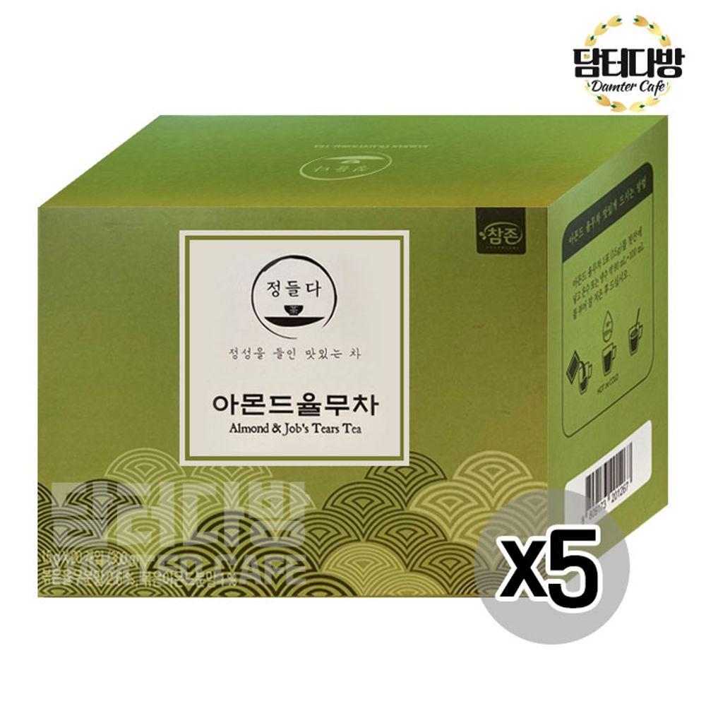 참존식품 아몬드율무차 20포 X5