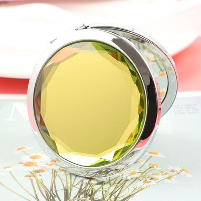 휴대용 크리스탈 양면 손거울 (옐로우)