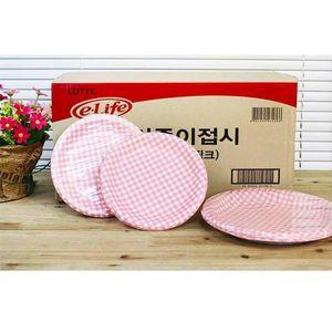 아이티알,LL (BOX)이라이프 칼라종이접시180(핑크)200p