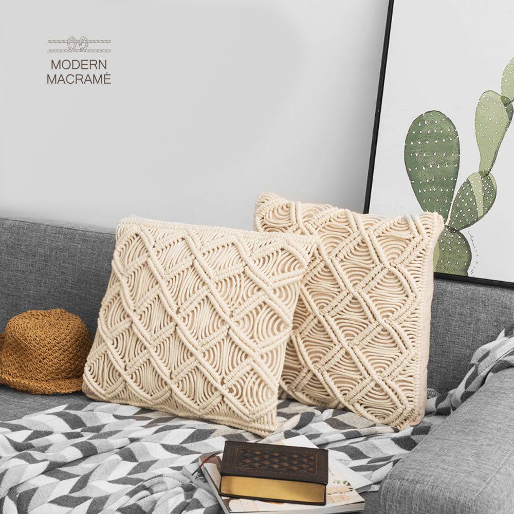 다이아 쿠션 (45x45) 만들기 매듭공예 마크라메 재료