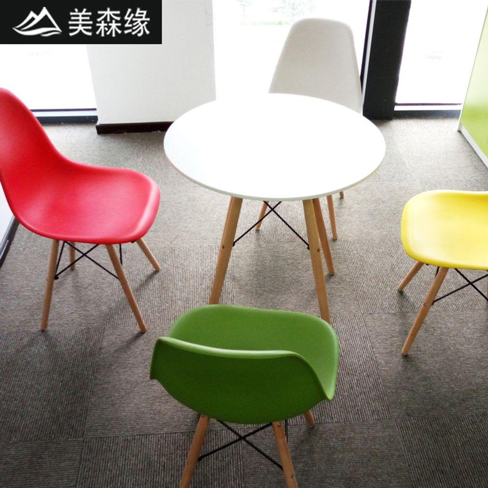 [더산직구]심플 의자 테이블 플라스틱 나무 가구 인테리어-1/ 배송기간 영업일기준 7~15일