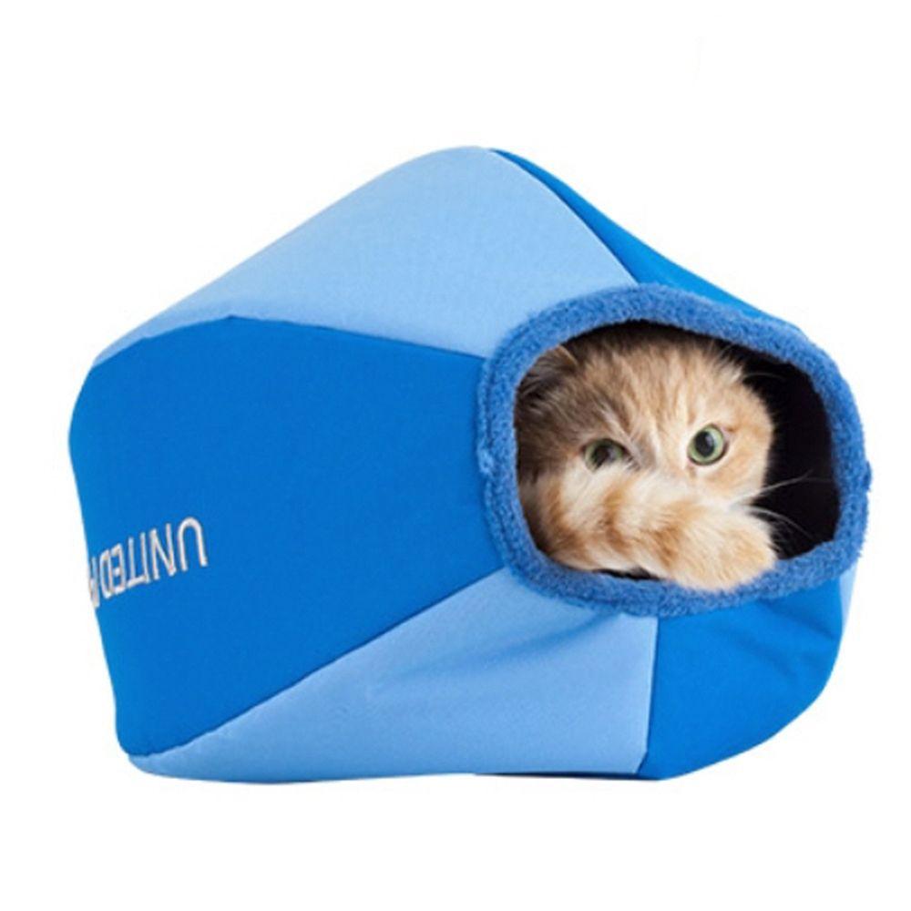 캣 동굴 아지트 블루 고양이 놀이 쉼터 공간