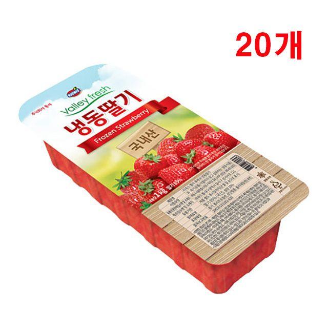 가당 냉동과일 겨울딸기 1kg 20개