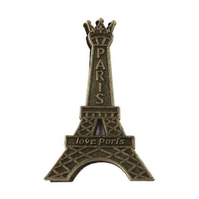 에펠탑 디자인 집게 명함 사진 꽃이 테이블 꾸미기 1p