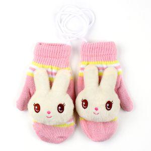 따뜻한  끈달린 토끼 벙어리 장갑(여성)