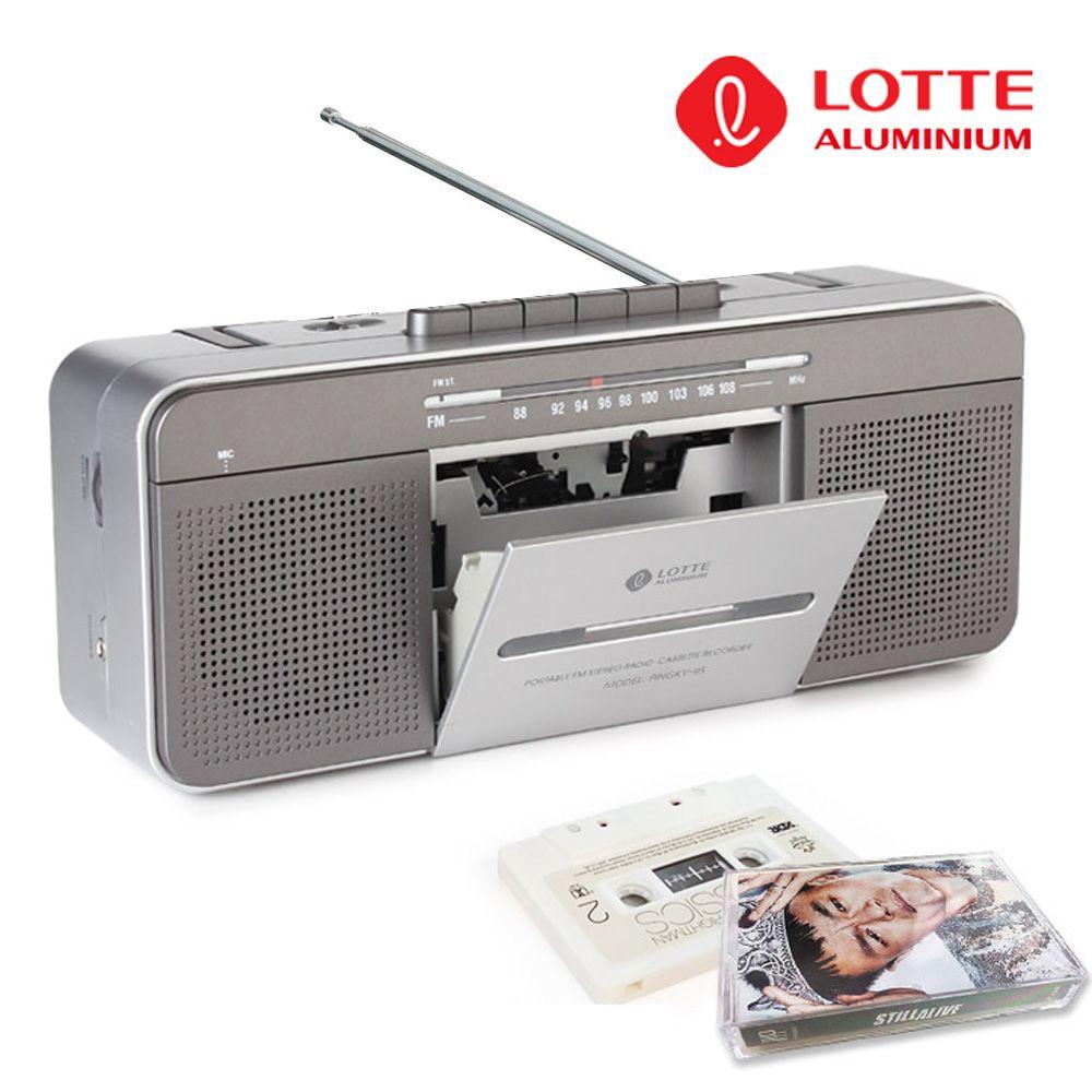 롯데 FM 라디오 카셋트 플레이어 핑키95